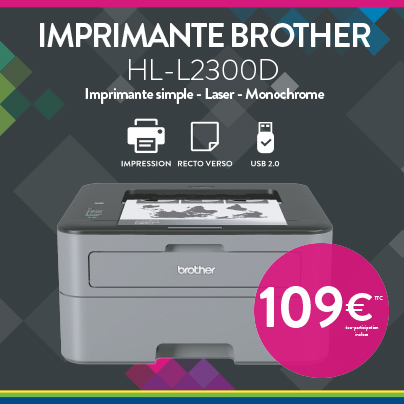 Offre Imprimante Brother HL-L2300D - Cartridge World Beauvais